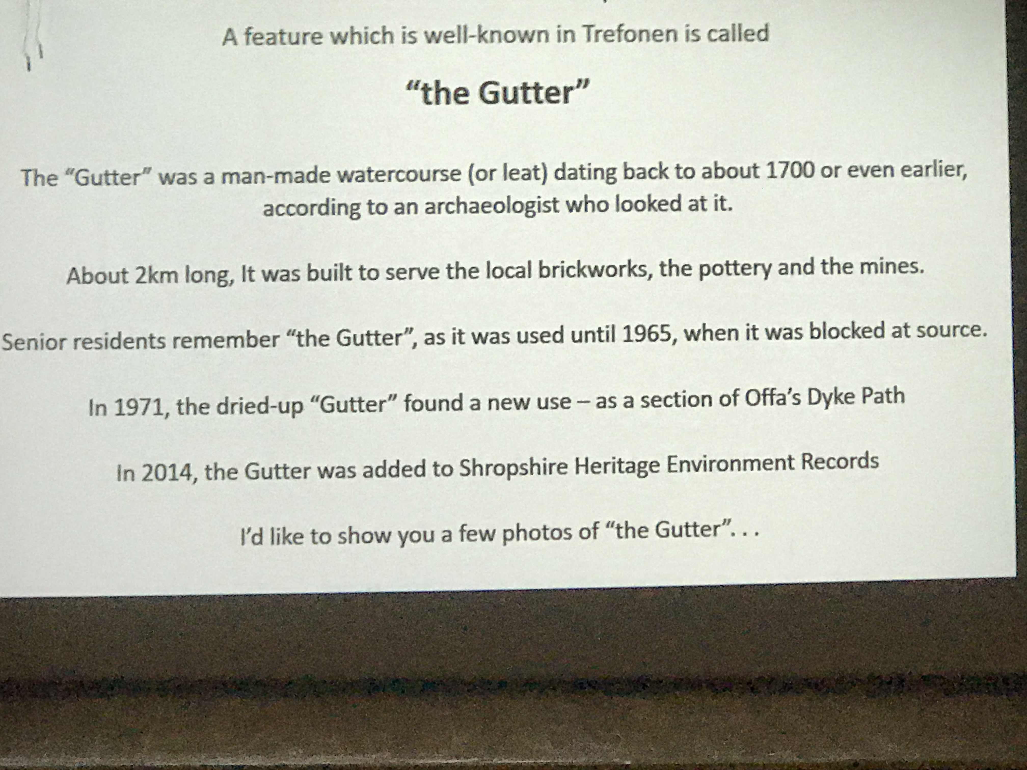 Niall Heaton - guest speaker at the Oswestry Offa's Dyke Collaboratory 2018